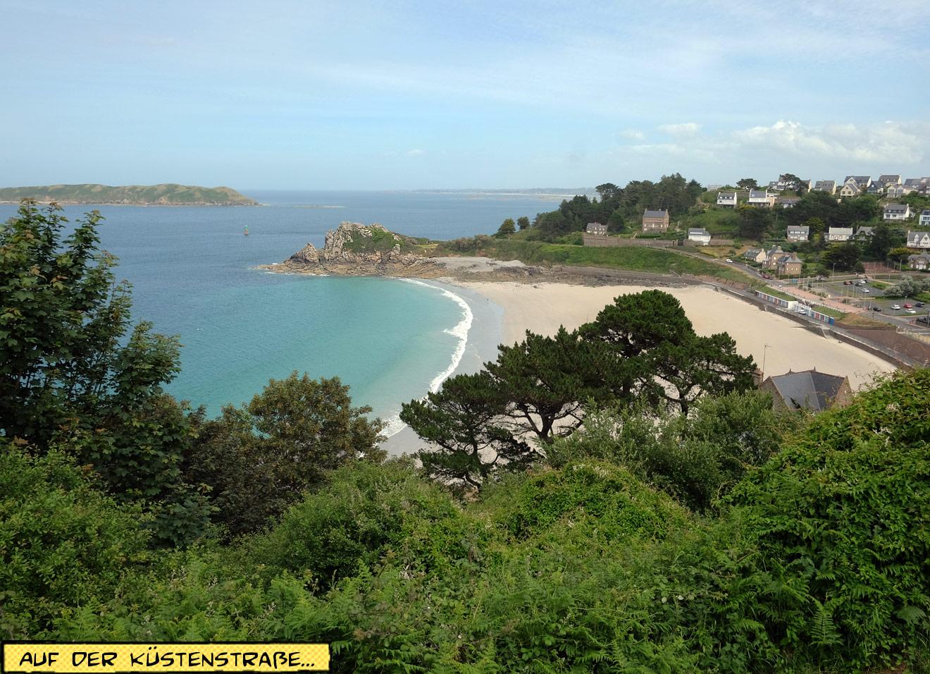 Strand in der Bretagne von oben