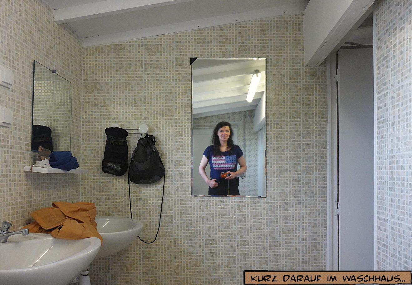 Im Waschhaus auf dem Campingplatz
