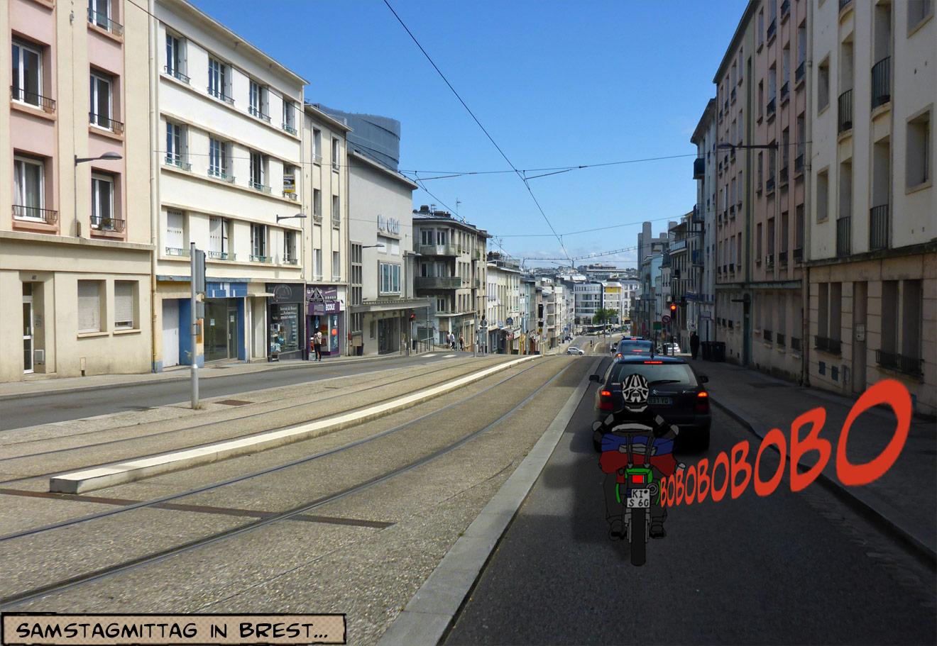 Straßenansicht in Brest