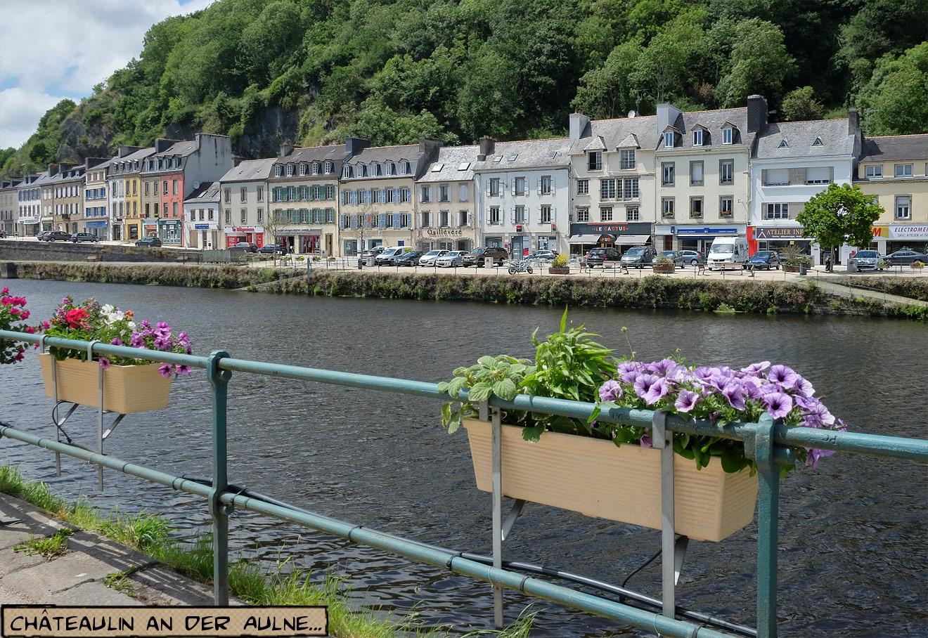 Fluss Aulne in Châteaulin