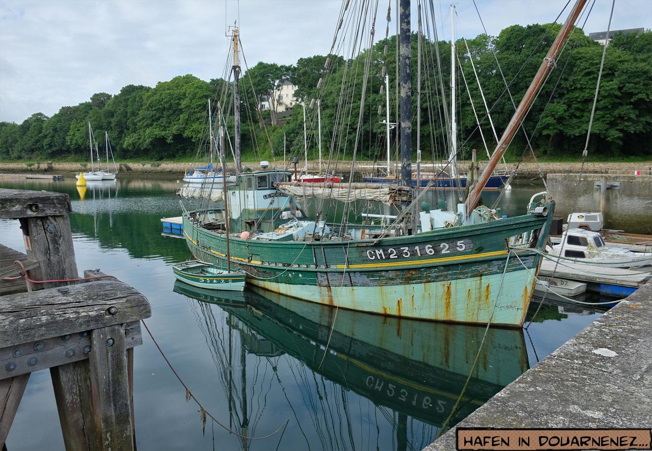 Segelboot in Douarnenez