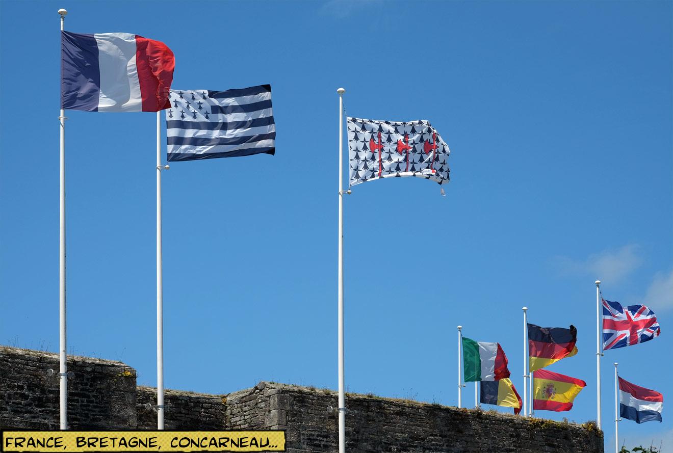 Flaggen der Bretagne, Frankreich, Concarneau