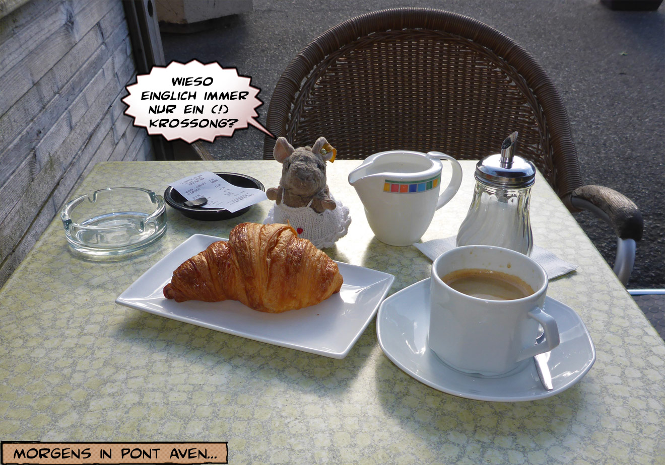 Croissant und Kaffee