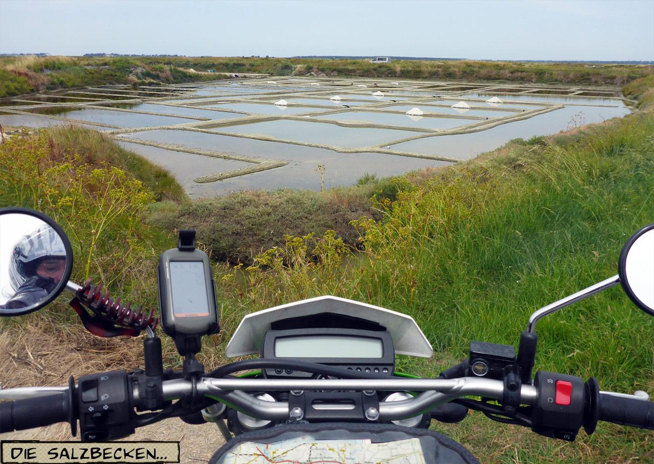 Salzbecken in der Bretagne