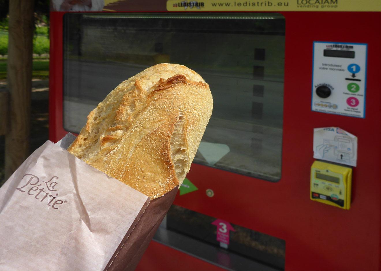 Baguette aus dem Automaten