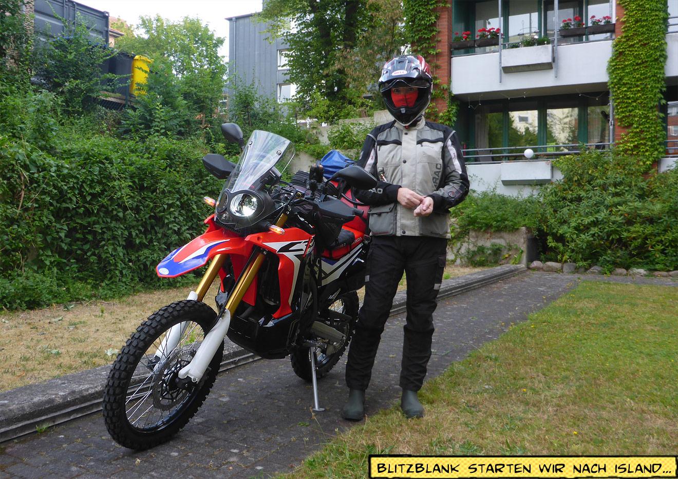 Motorrad in der Tiefgarage