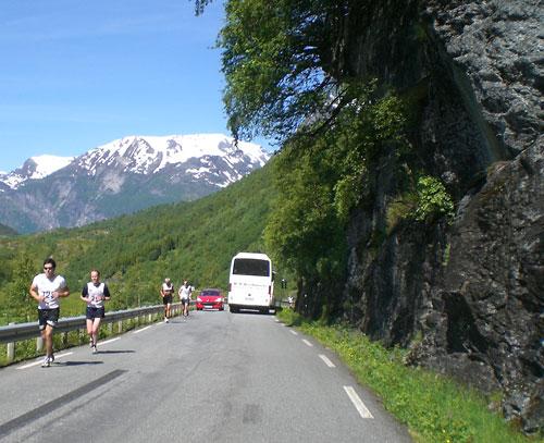 Halbmarathon am Geiranger