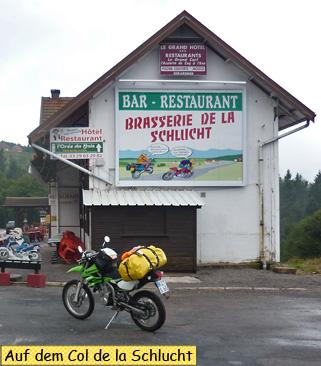 Svenja auf dem Col de la Schlucht
