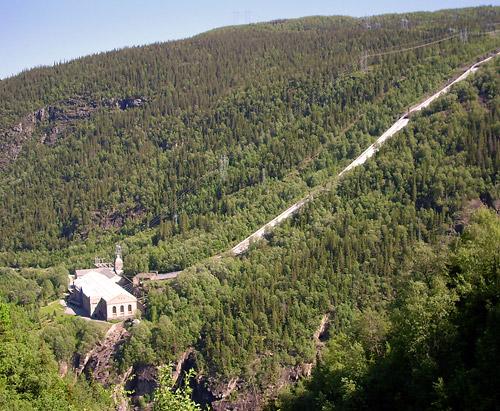 Wasserkraftwerk Vermork am Rjukanvossen