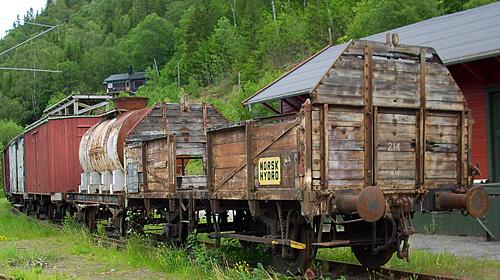 Waggons der Rjukanbanen