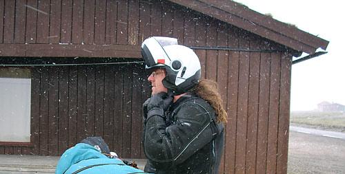 Werner im Schneetreiben auf dem Hardangervidda