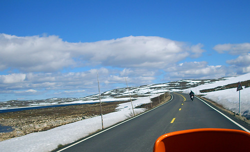 Hardangervidda einsame Fahrt übers Fjell