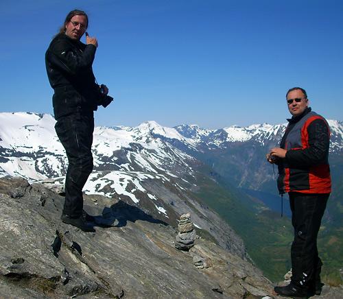 Werner und Markus auf dem Dalsnibba