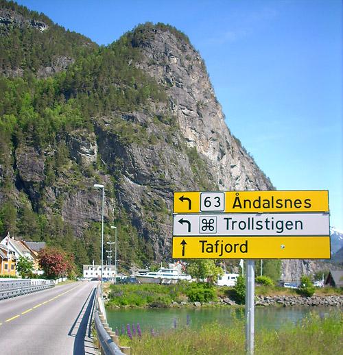 Andalsnes Trollstigen Reichsstraße 63