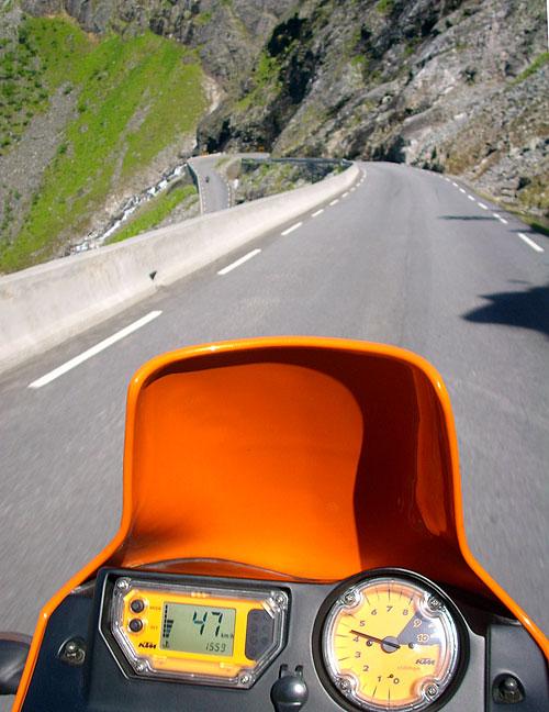 Trollstigen aus der Sicht der KTM