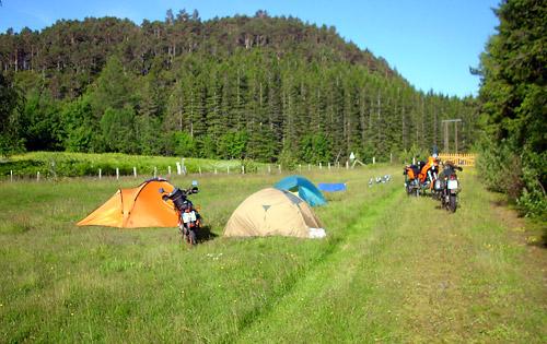Allein auf Rosalies Campingplatz