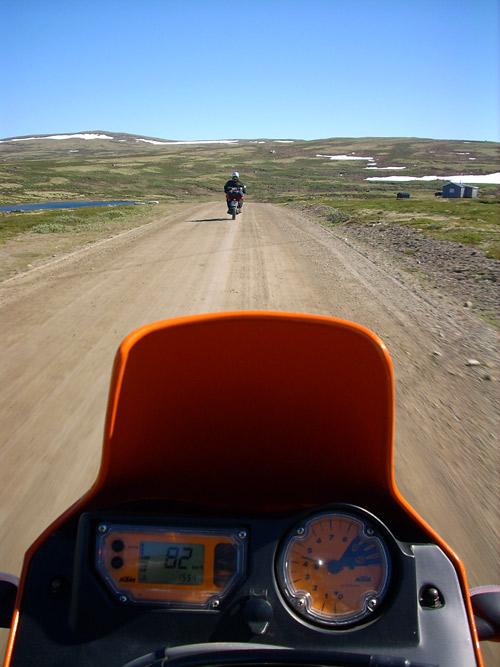 KTM und Yamaha auf dem Fjell