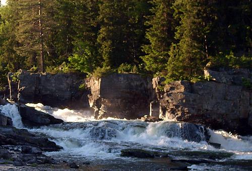 Wasserfall in Fagernes