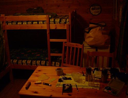 Hütte mit Heizung
