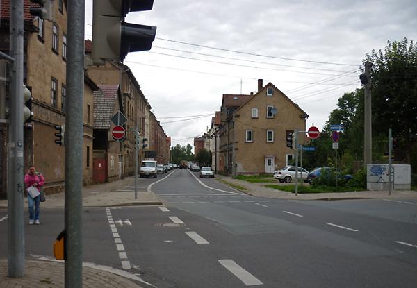 Straßenszene in Gotha