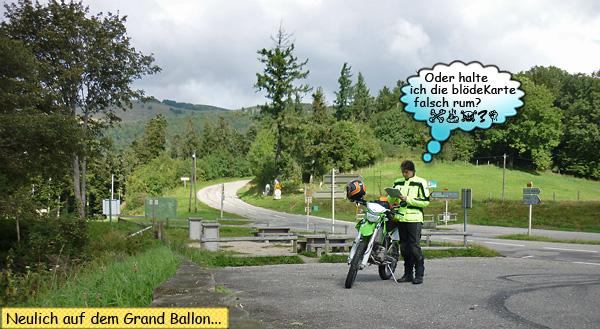 Mit dem Motorrad am Grand Ballon