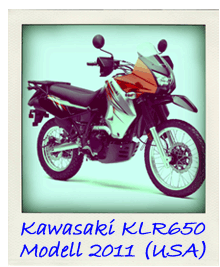 Kawasaki KLR650 Modelljahr 2011 USA