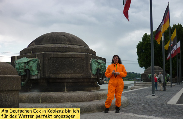 Svendura am Deutschen Eck in Koblenz