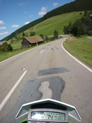 Mit dem Motorrad im Schwarzwald