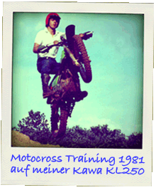 Sven beim Motocross Training auf KL250 1981