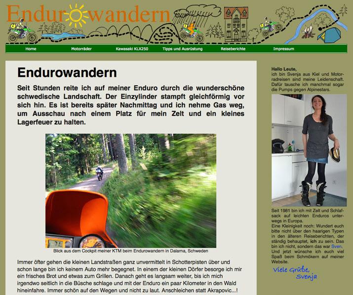 Endurowandern mit Svendura