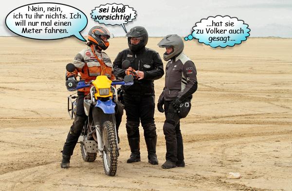 Svenja, Eggi und Ela und die MZ Baghira