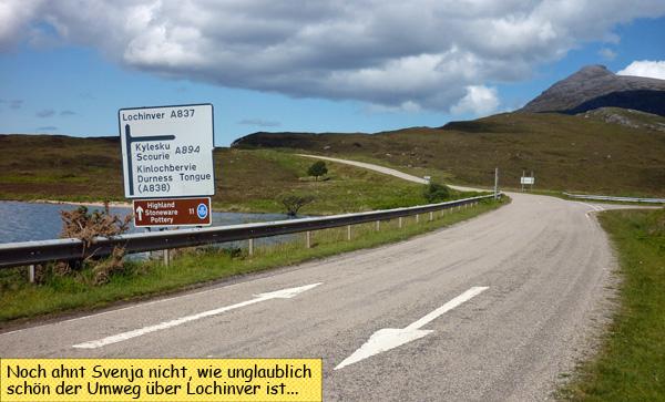 Roadsign Lochinver
