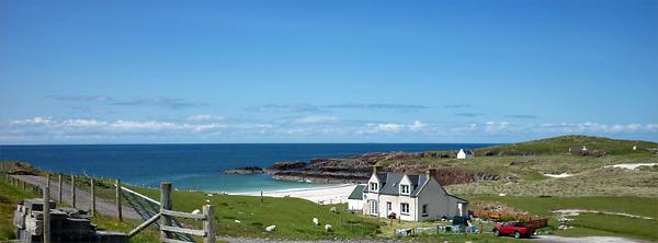 White sandy beaches of Scotland