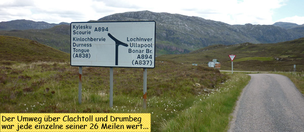 Road Sign Ullapool Durness
