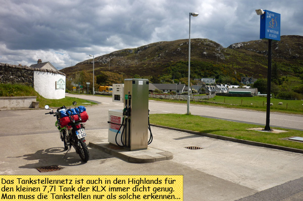 Scourie Filling Station Scotish Fuels