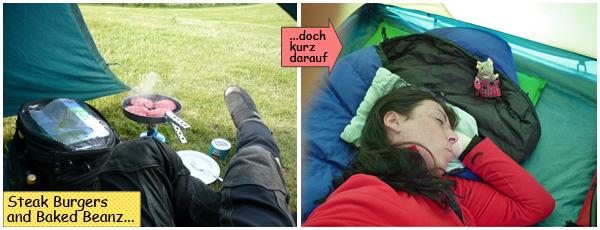 Svenja schläft im Zelt