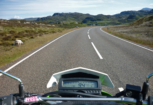 Motorbike on open Road
