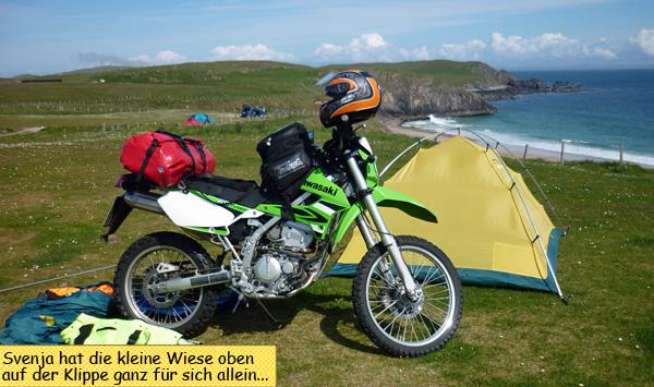 Durness Camping Motorrad