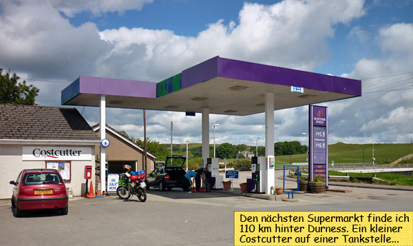 Costcutter Supermarkt Tankstelle Lairg