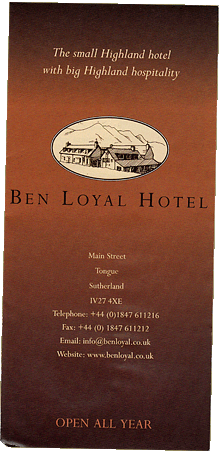Ben Loyal Hotel Tongue Flyer