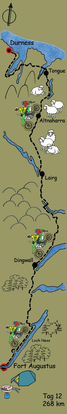 Skizze Reiseroute Tag 12
