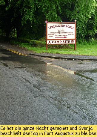 Regen in Fort Augustus Schottland