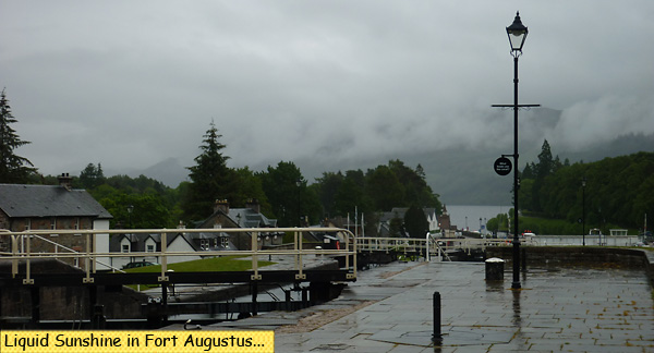 Rain in Scotland Fort Augustus Locks
