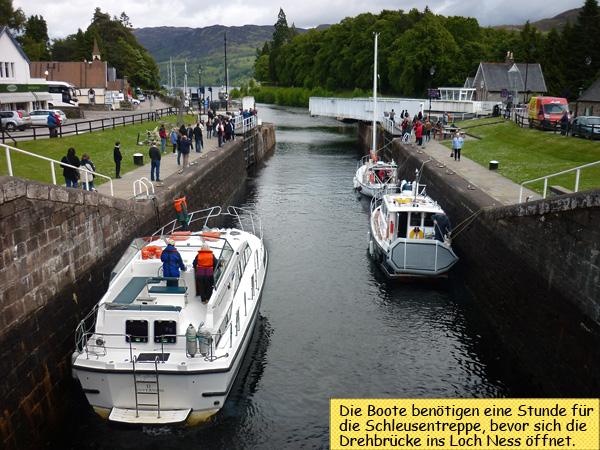 Fort Augustus Drehbrücke Loch Ness