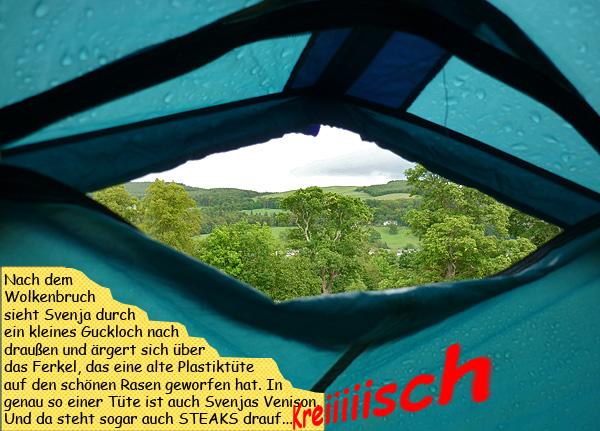Regen im Zelt