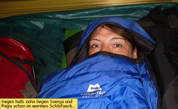 Svenja im Schlafsack