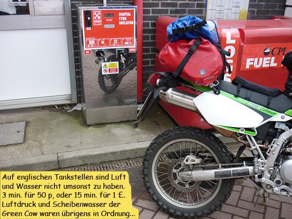 Luftdruck prüfen Tankstelle kostenpflichtig