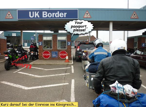 Einreisekontrolle nach England UK border