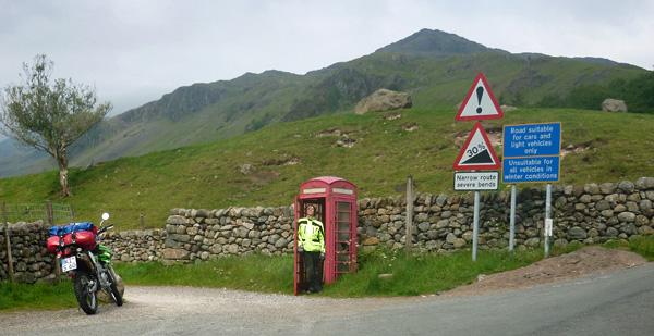 Telefonzelle Hardknott Pass
