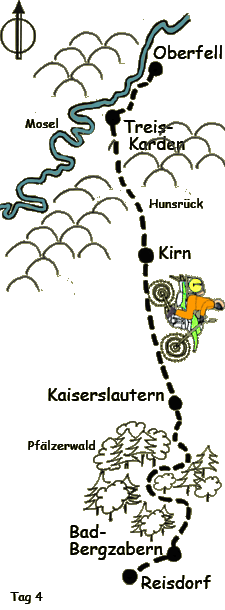 Tag 4 von Oberfell bis PfŠlzerwald und Reisdorf